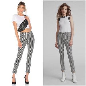 Rag & Bone OBA High Rise Ankle Skinny Stripe Jeans
